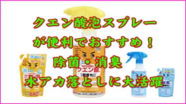クエン酸泡スプレーが便利でおすすめ!除菌・消臭・水アカ落としに大活躍